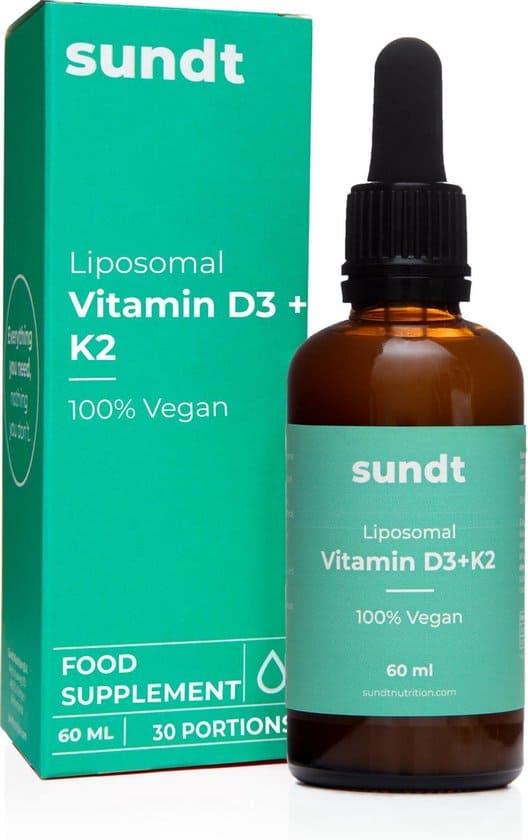 vitamine d3 en k2 van sundt vegan glutenvrij suikervrij
