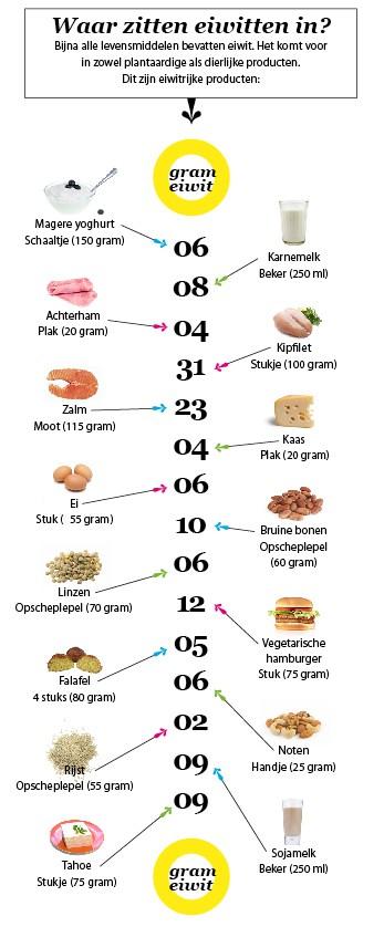 waar zitten gezonde eiwitten in afbeelding van gezondheidsnet.nl