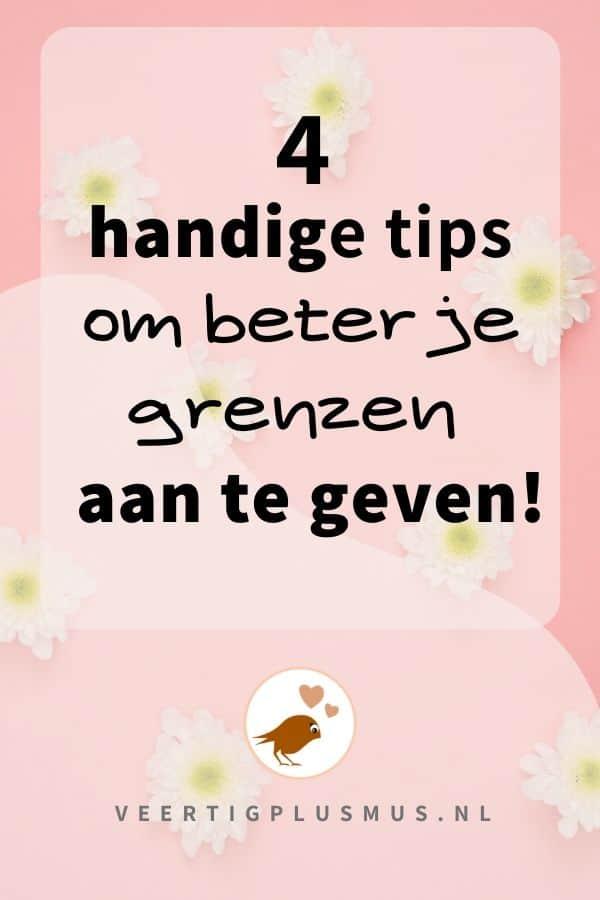 4 handige tips om beter je grenzen aan te geven