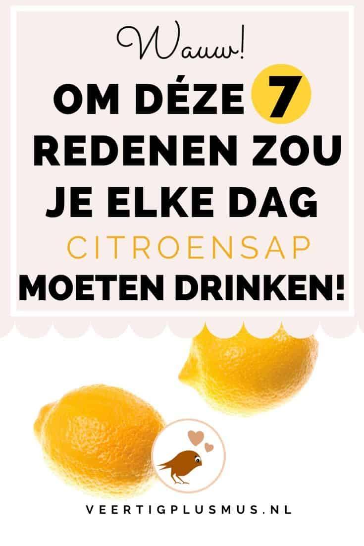 7 redenen waarom je elke dag citroensap zou moeten drinken