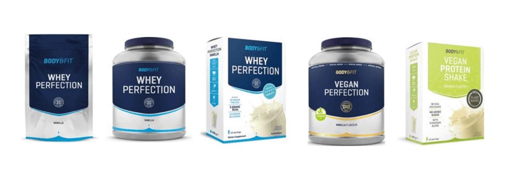 Eiwitshakes en proteineshakes van body en fit