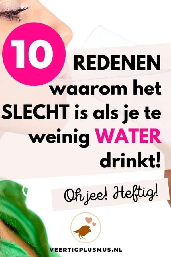 10 redenen waarom het slecht is als je te weinig water drinkt
