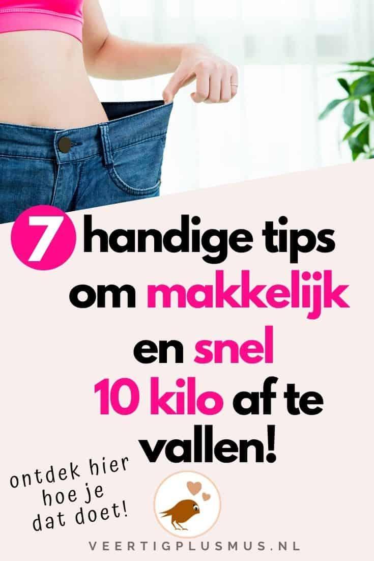 7 handige tips om makkelijk en snel 10 kilo af te vallen