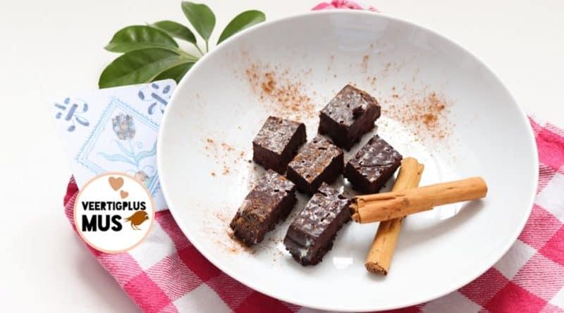 recept gezonde chocolade fudge lactosevrij vegan