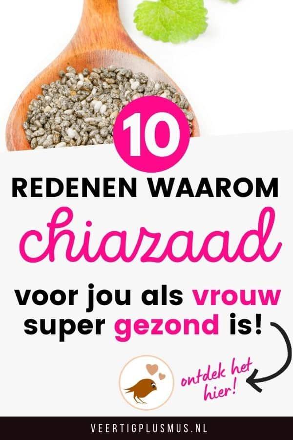 10 redenen waarom chiazaad voor jou als vrouw gezond is