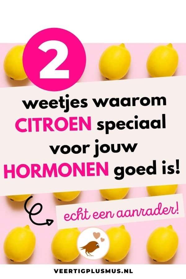 2 weetjes waarom citroen speciaal voor jouw hormonen goed is