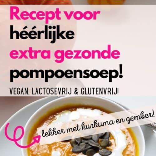 Recept pompoensoep lactosevrij glutenvrij vegan