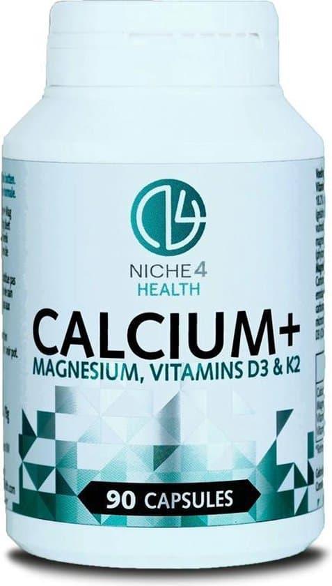 niche 4 health calcium magnesium vitamine d3 en k2 capsules