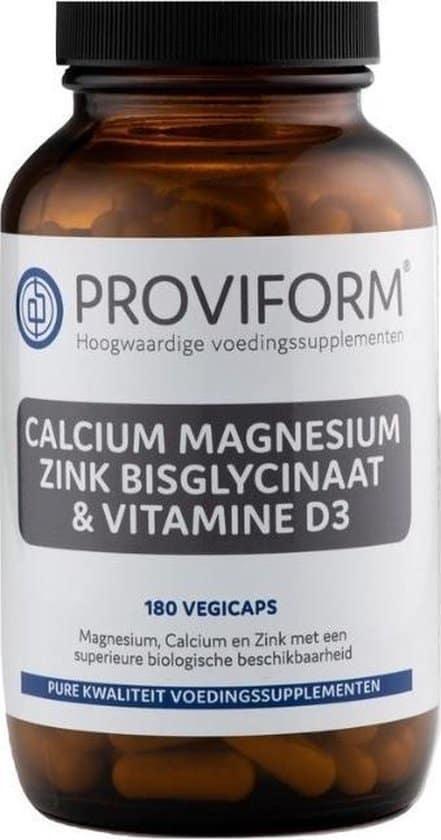 proviform calcium magnesium zink vitamine d3 vegan capsules