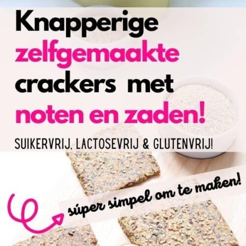 recept zaden en noten crackers glutenvrij lactosevrij suikervrij