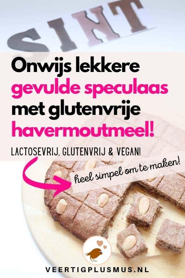 glutenvrije lactosevrije vegan gevulde speculaas havermout meel