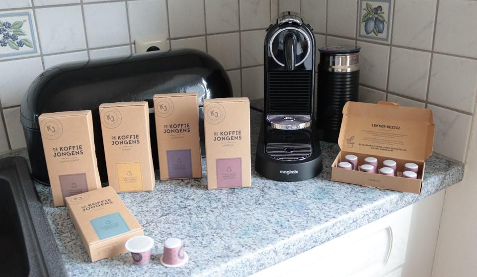 biologisch afbreekbare koffiecups van de koffiejongens
