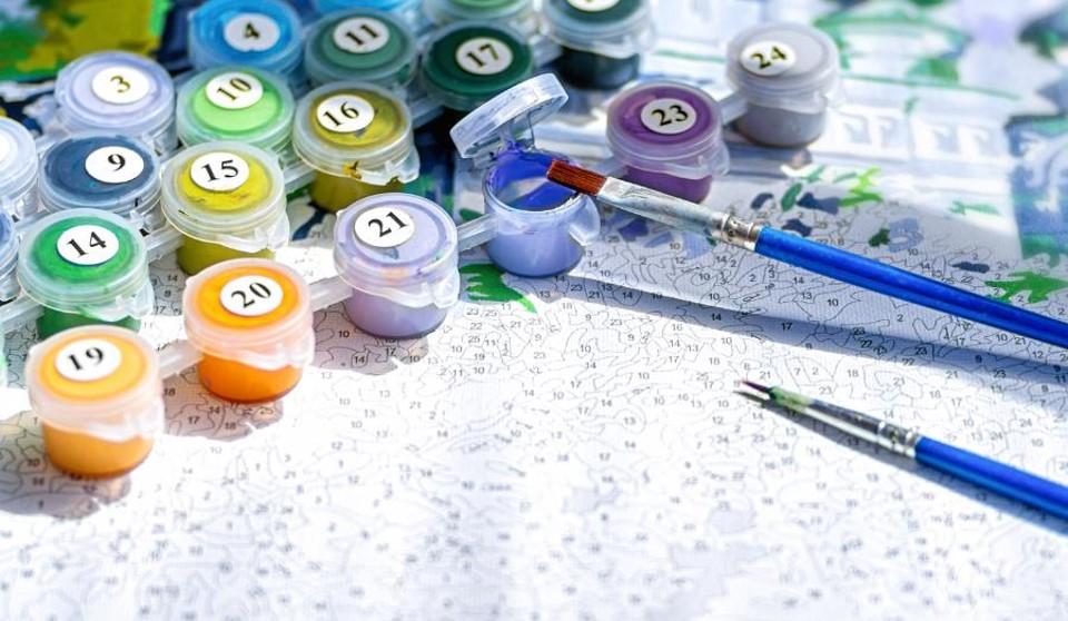 schilderen op nummer paint by number