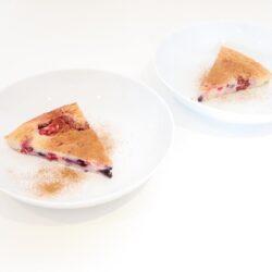 recept koolhydraatarme taart met rood fruit