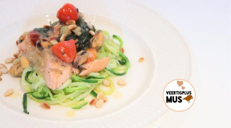 Recept koolhydraatarme courgetti met heerlijke vis