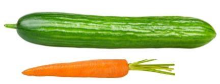 wortel en komkommer